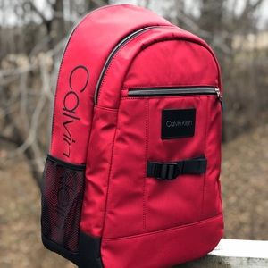 NEW Calvin Klein Backpack | Red & Black | Quality